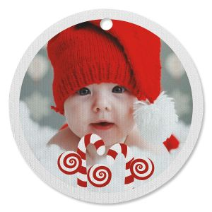 Be Merry Photo Ornament - Circle