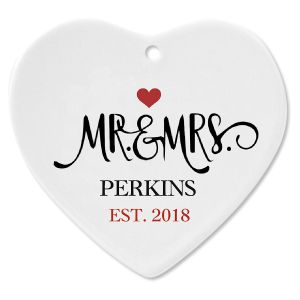 Mr. and Mrs. Established Personalized Christmas Ornament