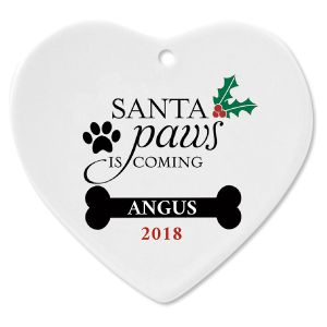 Santa Paws Personalized Christmas Ornament
