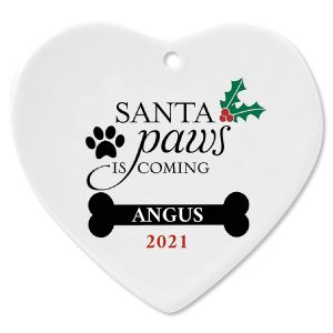 Santa Paws Personalized Christmas Ornament