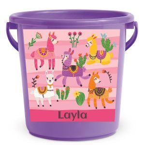 Personalized Kids Beach Bucket - Llama