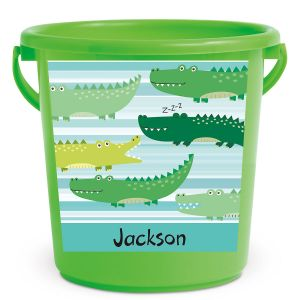 Personalized Kids Beach Bucket - Alligator