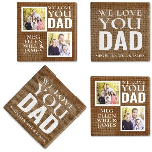 Burlap Photo Coasters