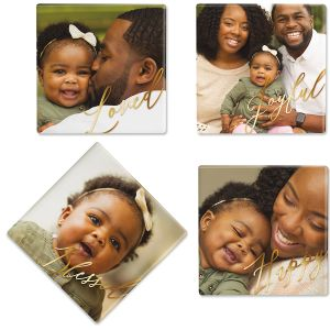 Calligraphy Photo Coasters