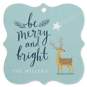 Bright Deer Personalized Ornament Square Bracket