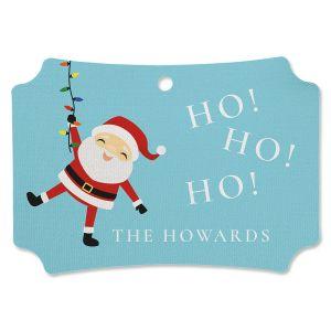 Santa Lights Personalized Ornament Deluxe