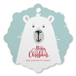 Polar bear Personalized Ornament Snowflake