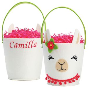 Personalized Magical Llama Easter Basket