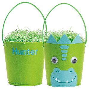 Personalized Magical Dinosaur Easter Basket
