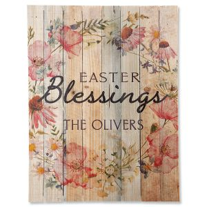 Personalized Easter Blessings Plaque