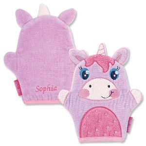 Personalized Unicorn Bath Mitt by Stephen Joseph®