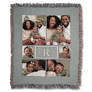 Monogram Woven Photo Throw