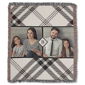Plaid Woven Photo Throw