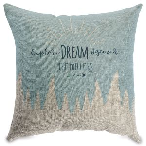 Explore Dream Personalized Burlap Pillow