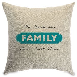 Family Personalized Pillow Natural
