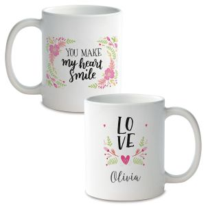 Floral Personalized Ceramic Mug
