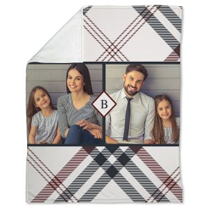 Plaid Fleece Photo Throw