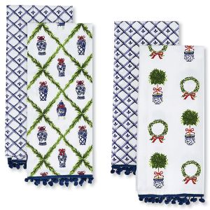 Set of 2 Chinoiseries Dish Towels