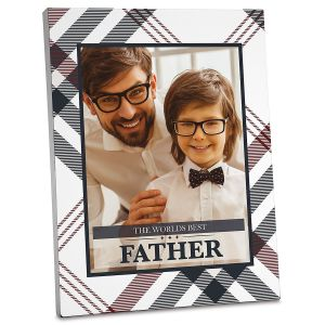 Plaid Photo Plaque