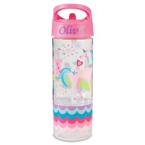 Personalized Unicorn Sip & Snack Bottle by Stephen Joseph®