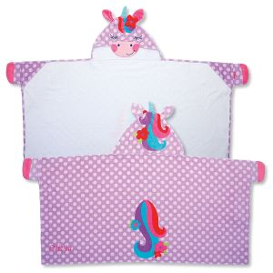 Personalized Hooded Unicorn Towel by Stephen Joseph®