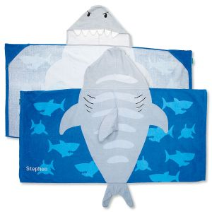 Personalized Hooded Shark Towel by Stephen Joseph®
