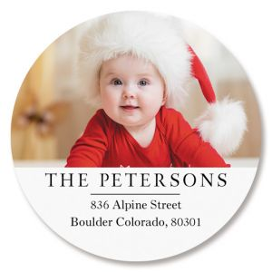 Classic Round Personalized Photo Address Label