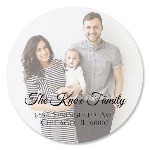 Personalized Full Photo Round Address Label