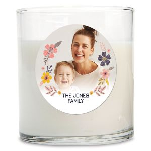Floral Photo Candle