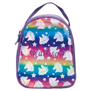 Personalized Unicorn Hologram Lunch Tote