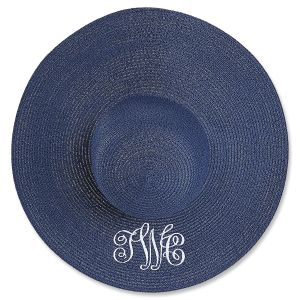 Personalized Navy Floppy Hat