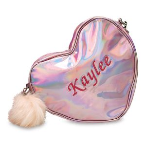 Personalized Pink Holographic Mini Backpack