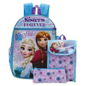 Personalized 5-in-1 Frozen Sisters Backpack Set