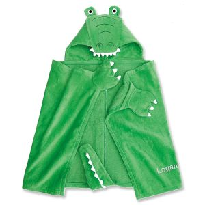 Gator Hooded Personalized Towel by Mud Pie®