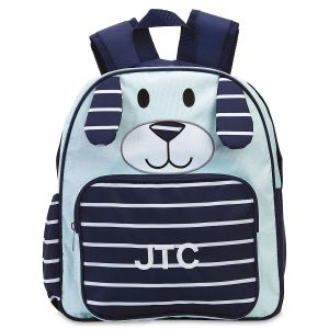 Navy Pup Personalized Preschool Backpack