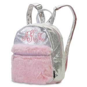Mini Silver Shimmer Backpack