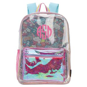 Personalized Clear Unicorn Emoji Fun Backpack