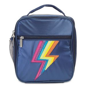 Metallic Rainbow Lightning Lunch Tote