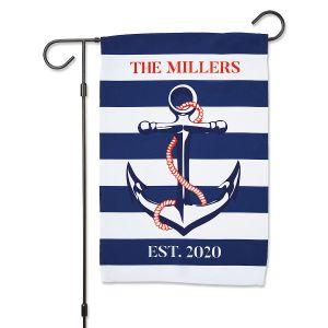 Personalized Anchor Garden Flag