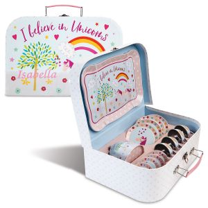 Personalized Unicorn Fairy Tea Set