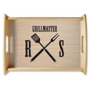 Grillmaster Natural Wood Serving Tray