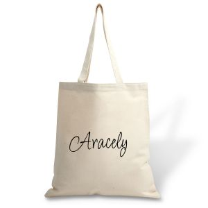 First Name Canvas Tote