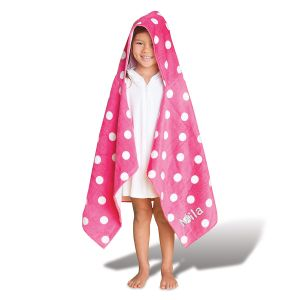Personalized Polka-Dotted Hooded Towel