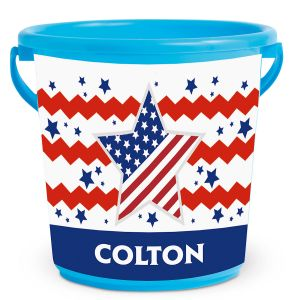 Fourth of July Personalized Kids Beach Bucket