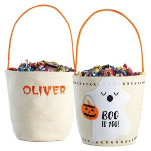 Ghost Canvas Treat bag front and back