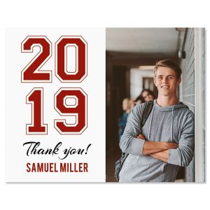 Vertical Prep Thank You Photo Note Cards