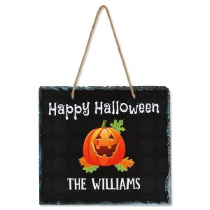 Personalized Hallloween Hanging Stone