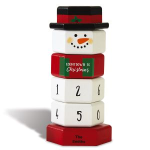 Snowman Christmas Countdown Blocks