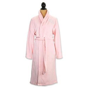 Small/Medium Pink Spa Robe - Script Monogram