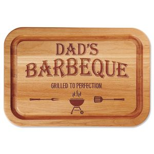 Dad's Barbeque Personalized Wood Cutting Board